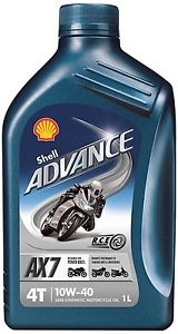 SHELL ADVANCE 4T AX7 10W-40 bal: 1 L